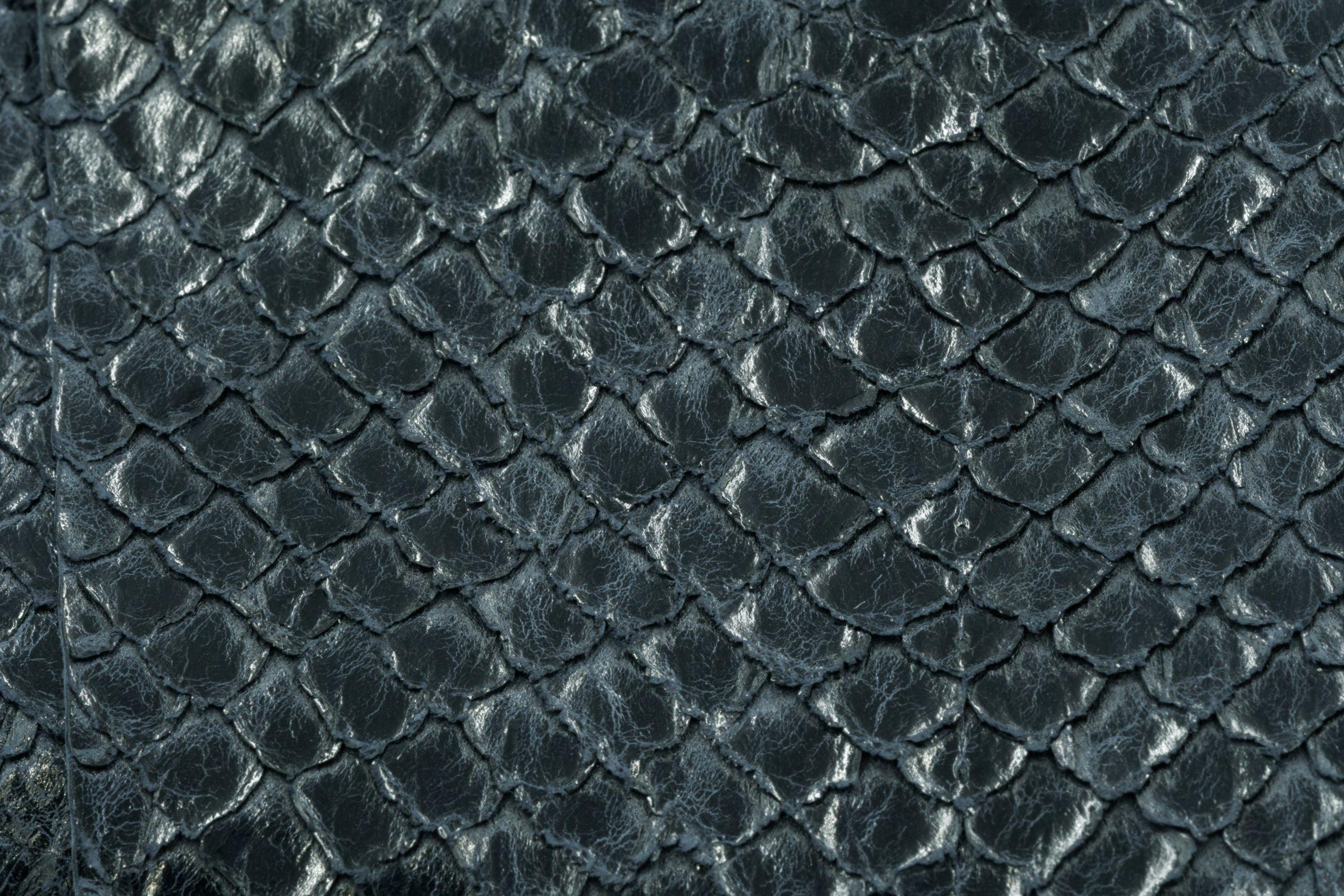 Cuir naturel de saumon haut de gamme finition crystal